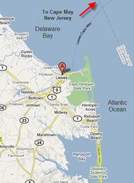 Lewes, DE - the ADT start point in Fort Miles Park