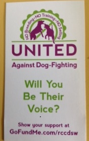 united against dog fighting